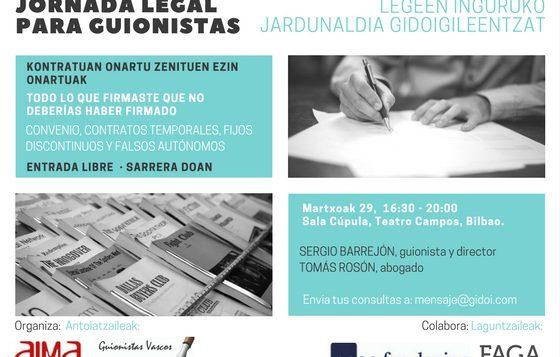 Jornada legal informativa para guionistas