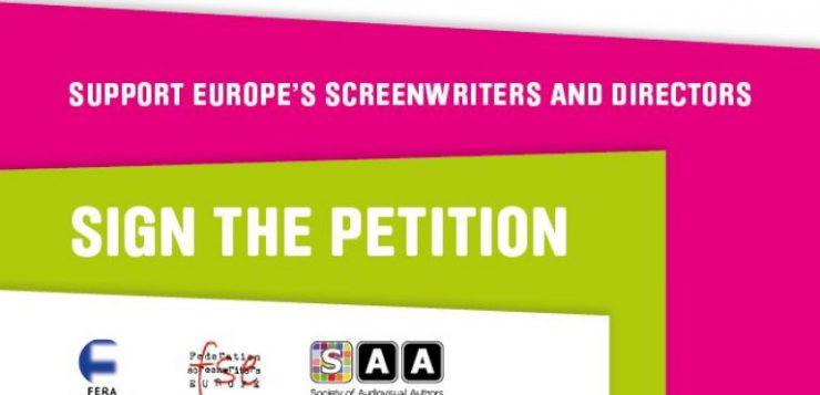 Apoya a los guionistas y directores de Europa. Firma la petición