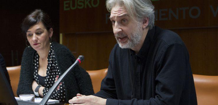 Comparecencia en la Comisión de Cultura del Parlamento Vasco