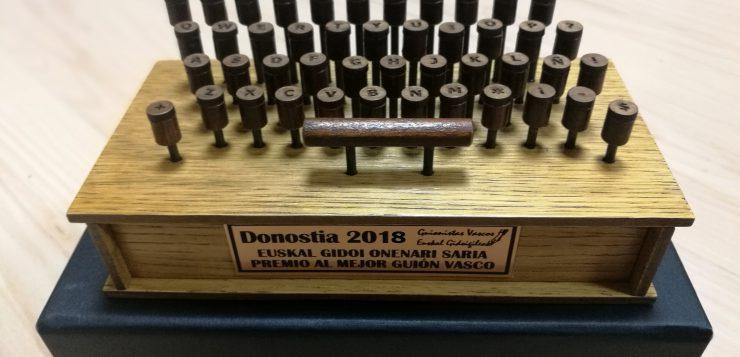 Premio al Mejor Guion Vasco – Zinemaldia 2018