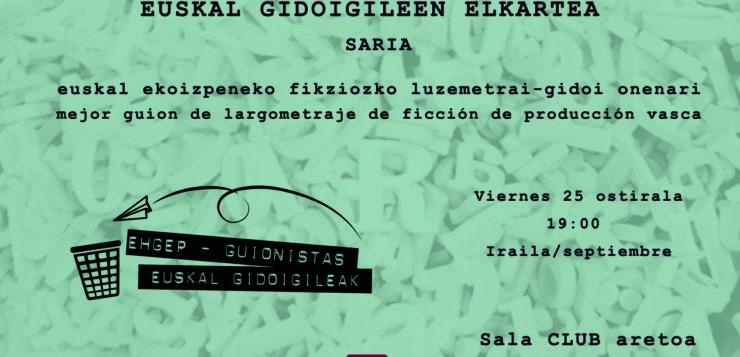 PREMIO EUSKAL GIDOIGILEEN ELKARTEA – ZINEMALDIA